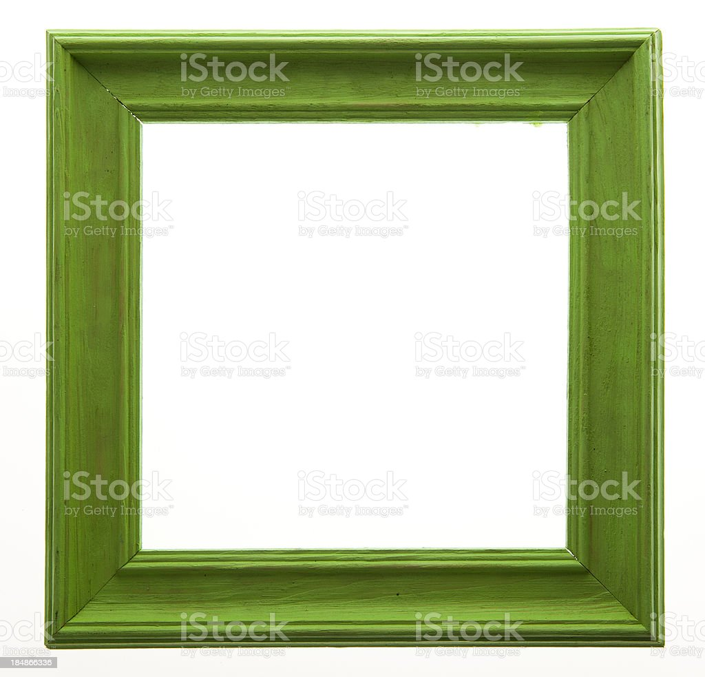 Green Picture Frame Isolated stock photo