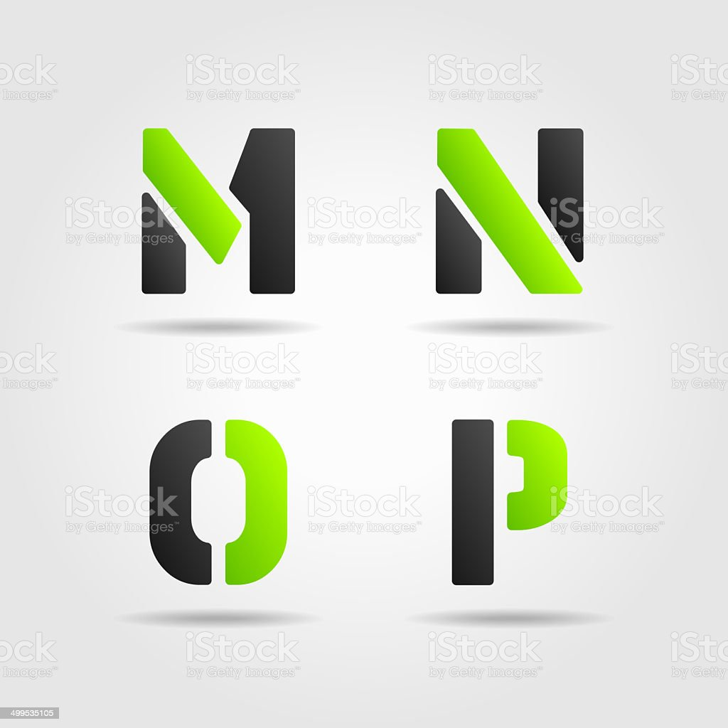 MNOP green stock photo