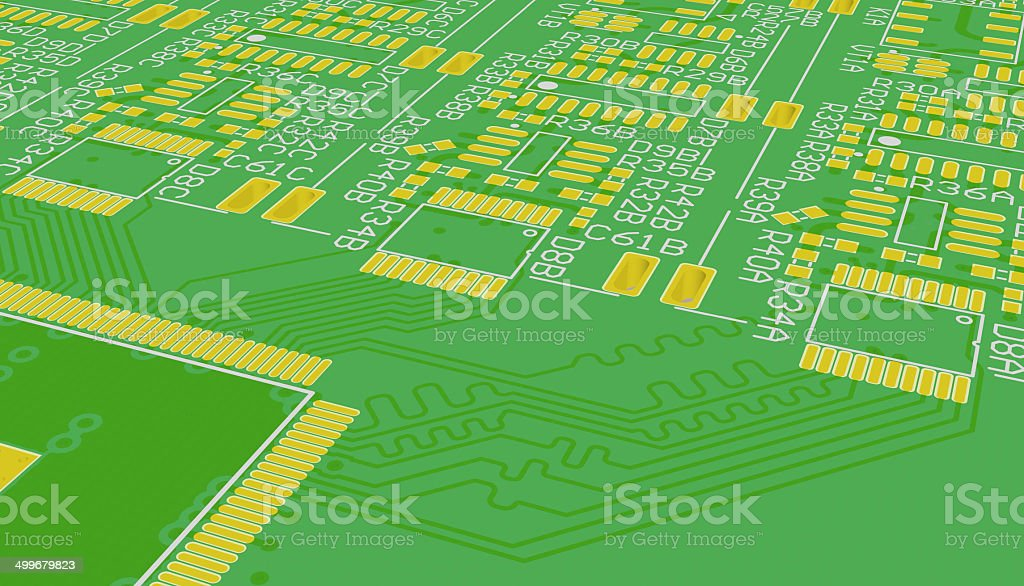 PCB green royalty-free stock photo