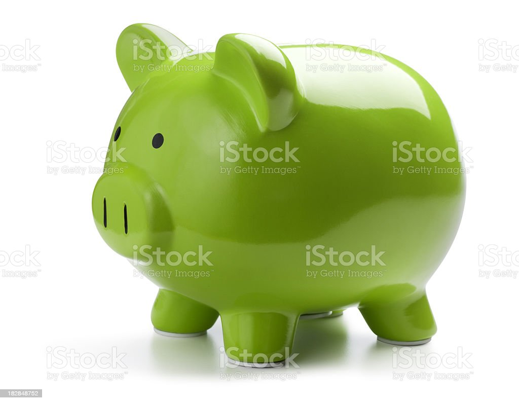 Green Piggy Bank stock photo