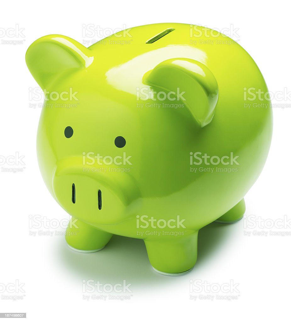 Green Piggy Bank royalty-free stock photo