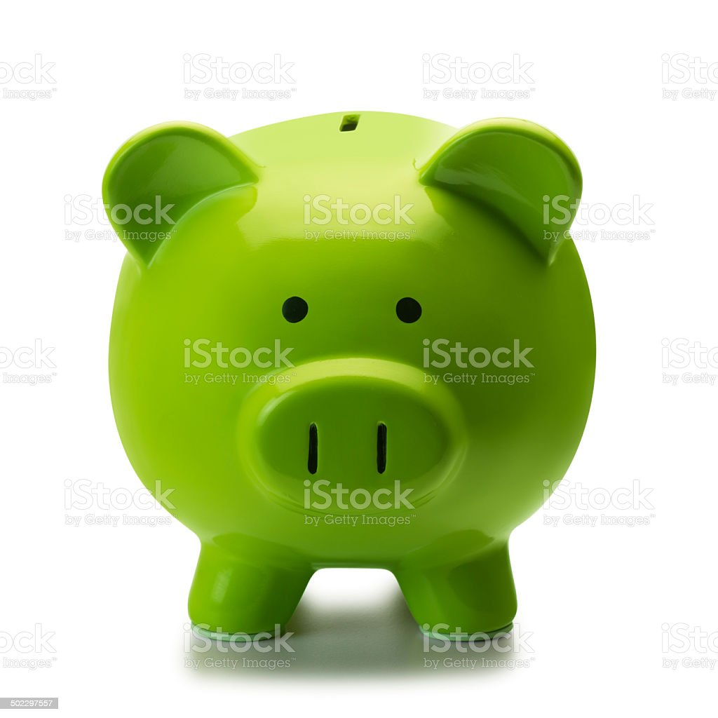 Green Piggy Bank stock photo