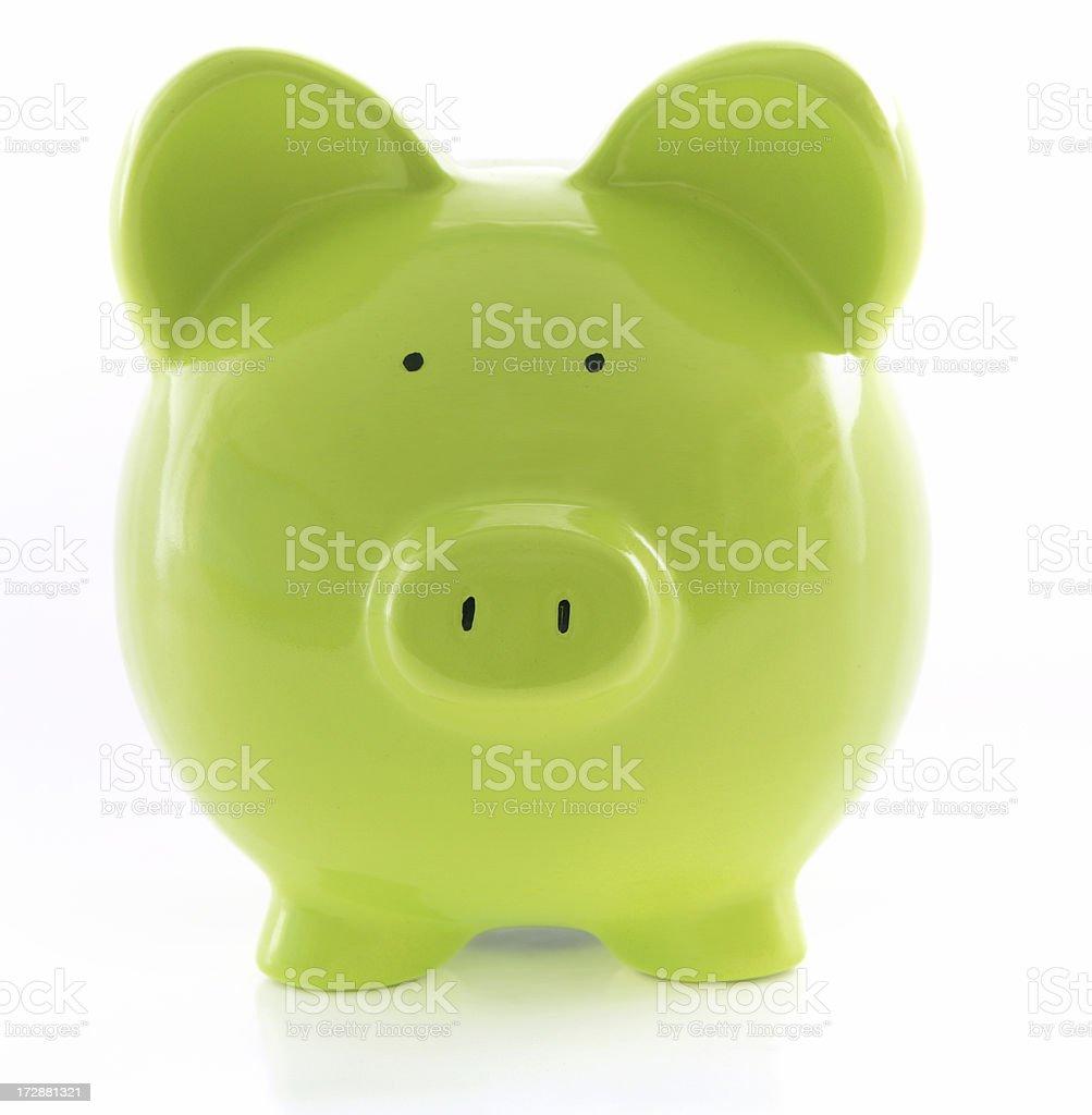 Green Piggy royalty-free stock photo