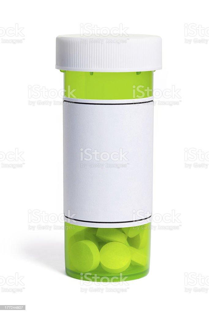 Green Pill Bottle stock photo