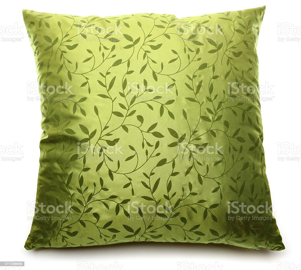 green pillow stock photo