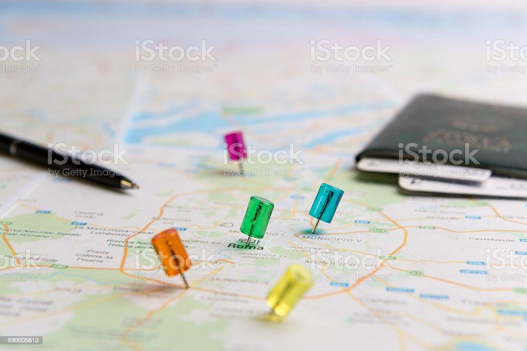 Zielony oznaczenie Lokalizacja na mapie zbiór zdjęć royalty-free