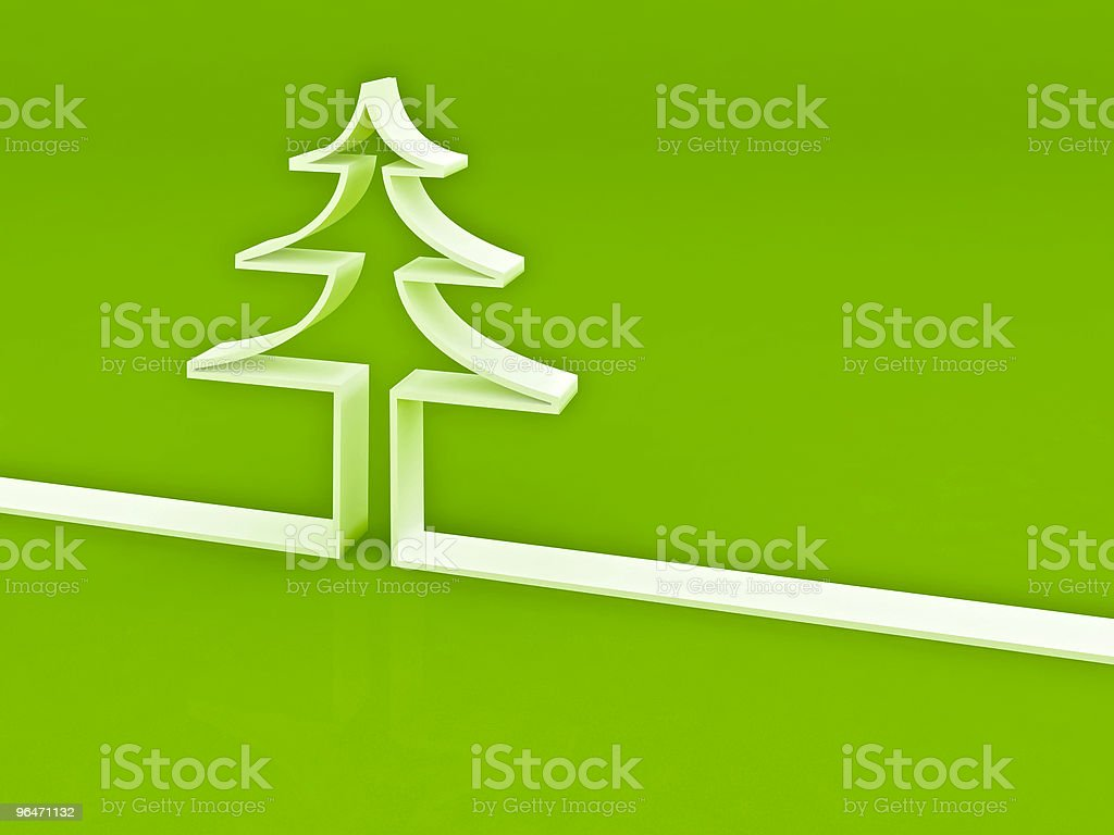Green pine concept inverse royalty-free stock photo