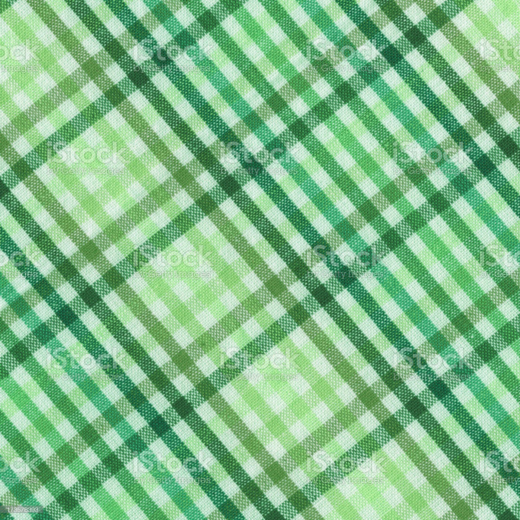 green plaid cotton napkin royalty-free stock photo