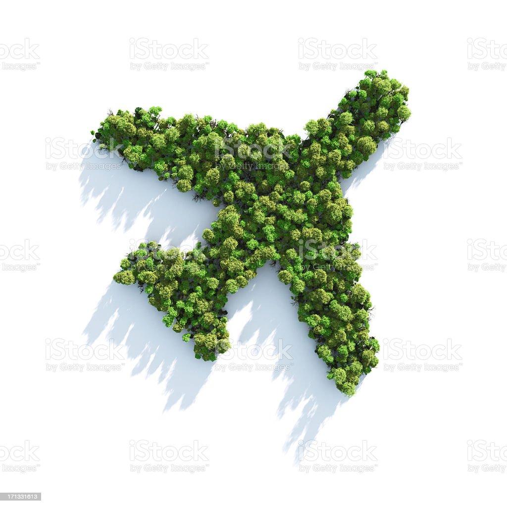 Green Plane royalty-free stock photo