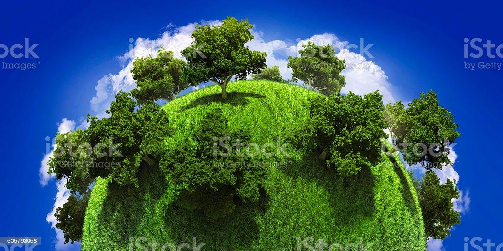 Green Planet Earth stock photo