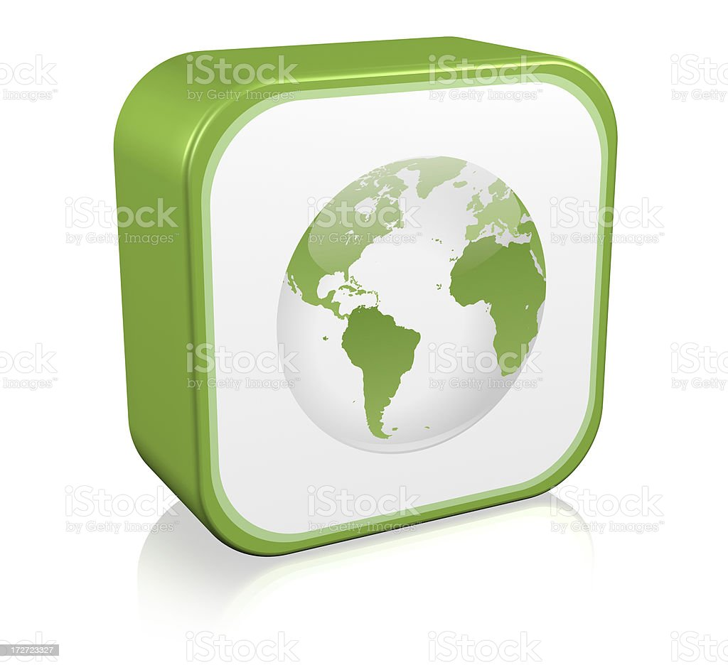 Green Planet Icon royalty-free stock photo