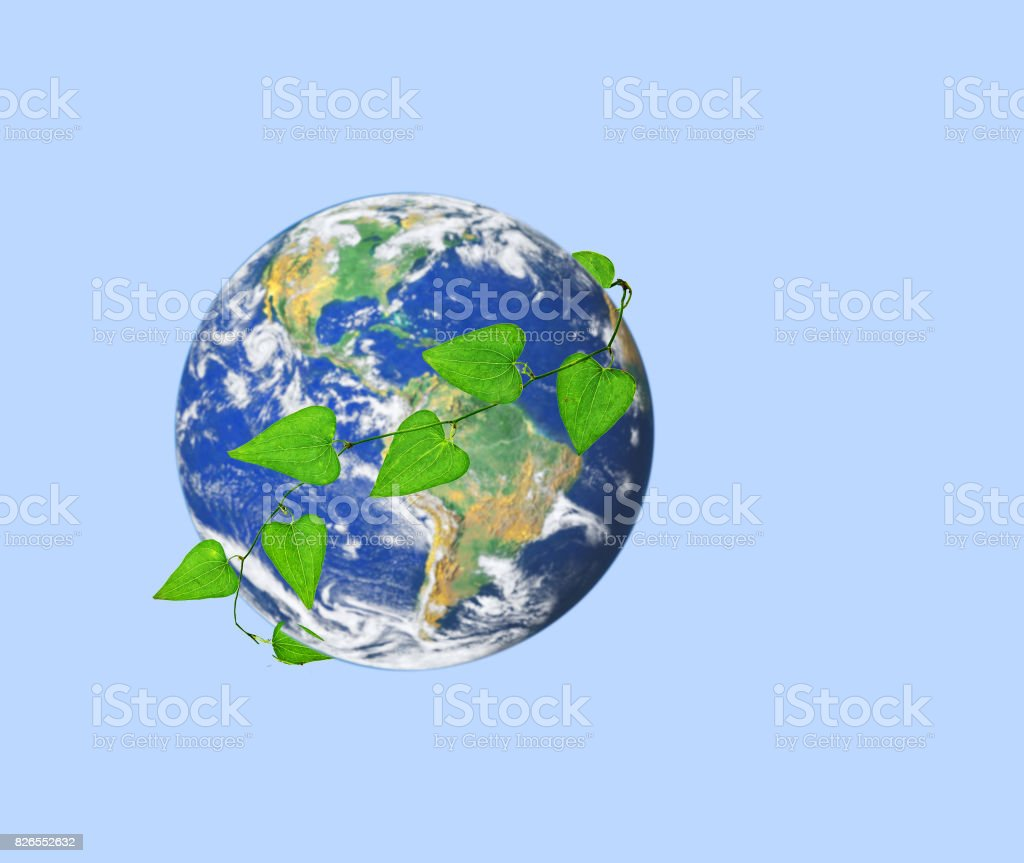 Green planet.Elements of this image furnished by NASA stock photo