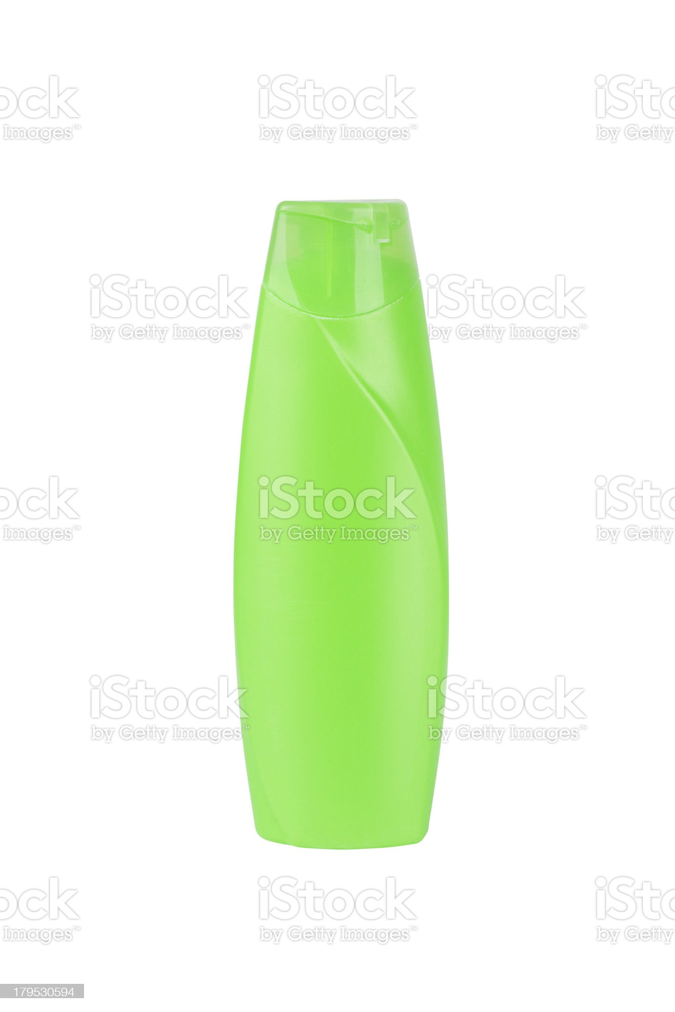 Green plastic bottle royalty-free stock photo