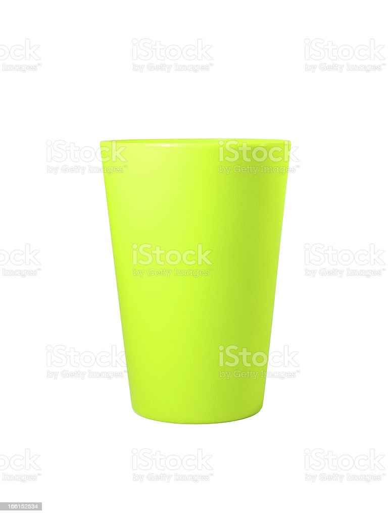 green plastic mug royalty-free stock photo