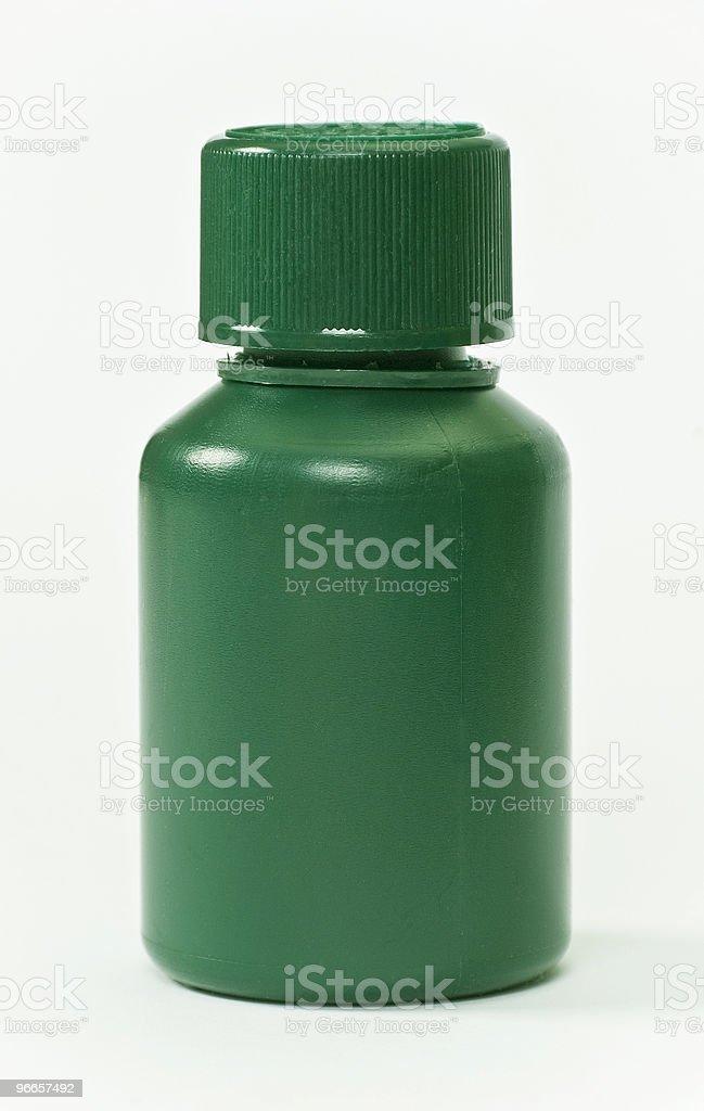 green plastic pills bottle royalty-free stock photo