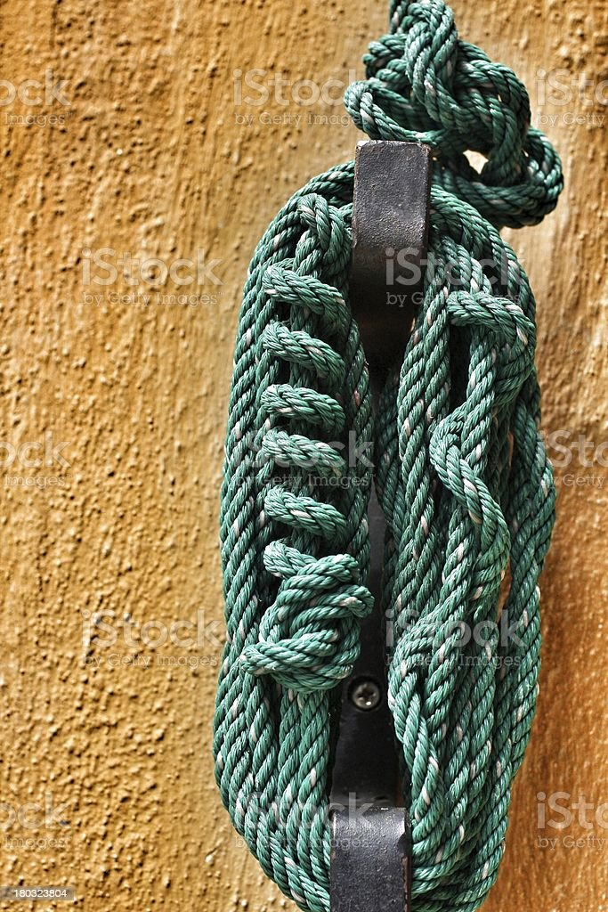 green plastic rope royalty-free stock photo
