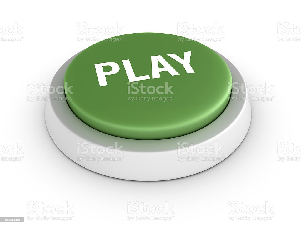Green PLAY Button royalty-free stock photo