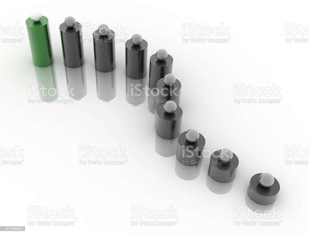 Green podium (isolated on-white) stock photo