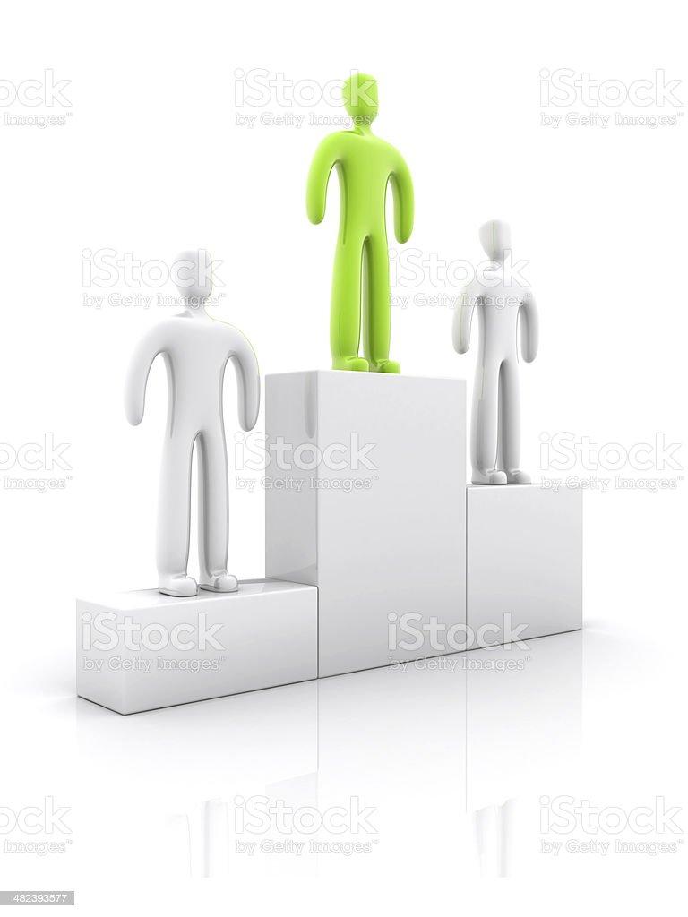 Green podium royalty-free stock photo