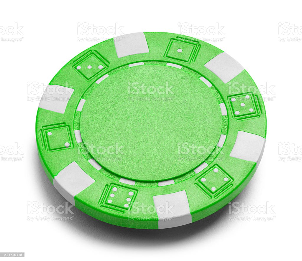 Green Poker Chip stock photo