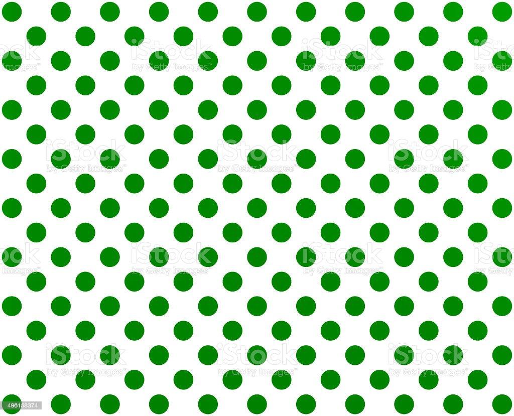 Green polka dot on white background stock photo