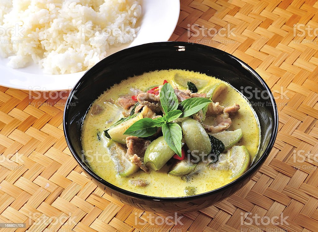 Green pork Curry royalty-free stock photo