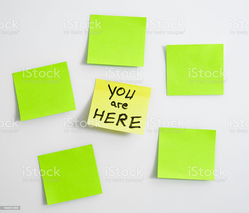 green post its stock photo