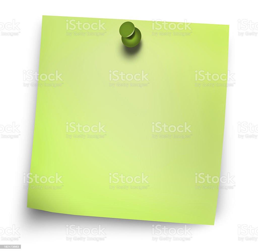 green postit stock photo
