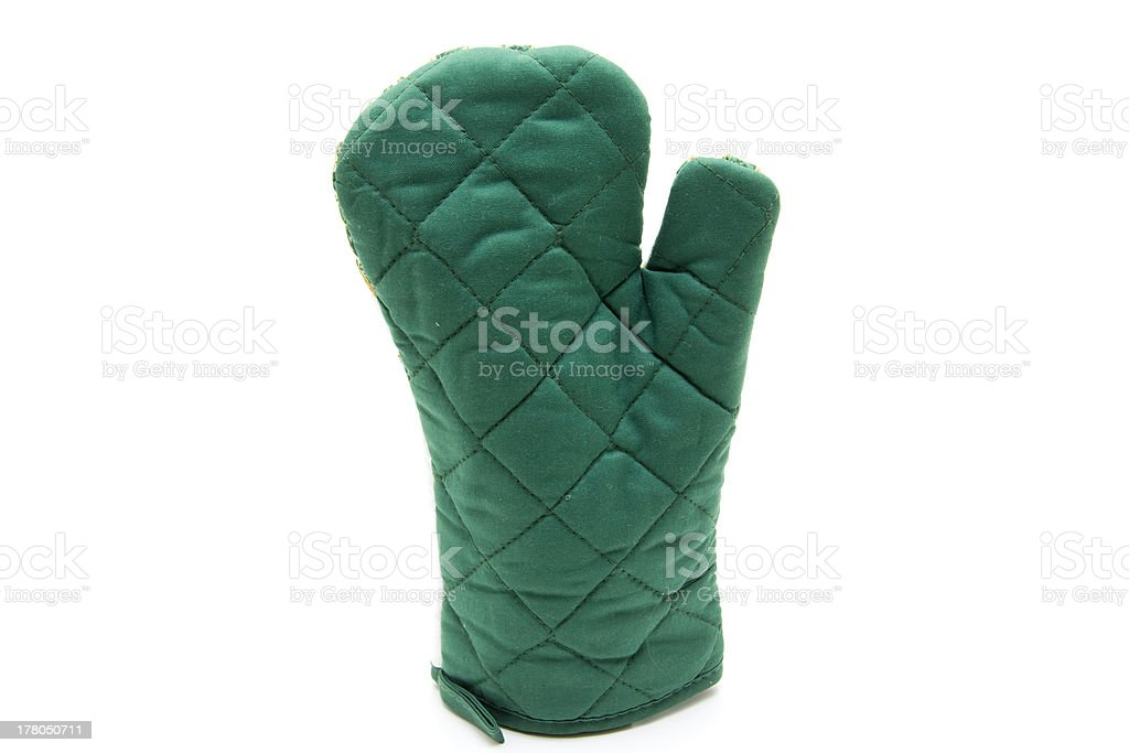 Green pot glove royalty-free stock photo
