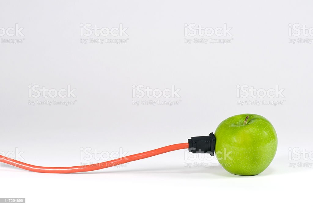 Green Power Apple royalty-free stock photo