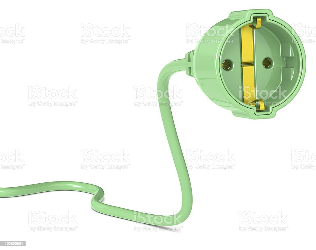 Green Power Plug. royalty-free stock photo