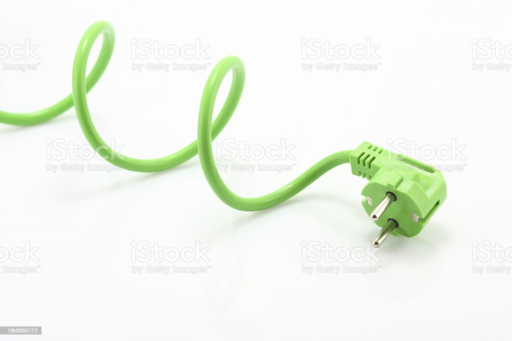 Green Power Plug stock photo