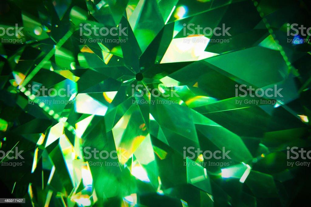 Green precious gem closeup stock photo