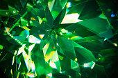 Green precious gem closeup