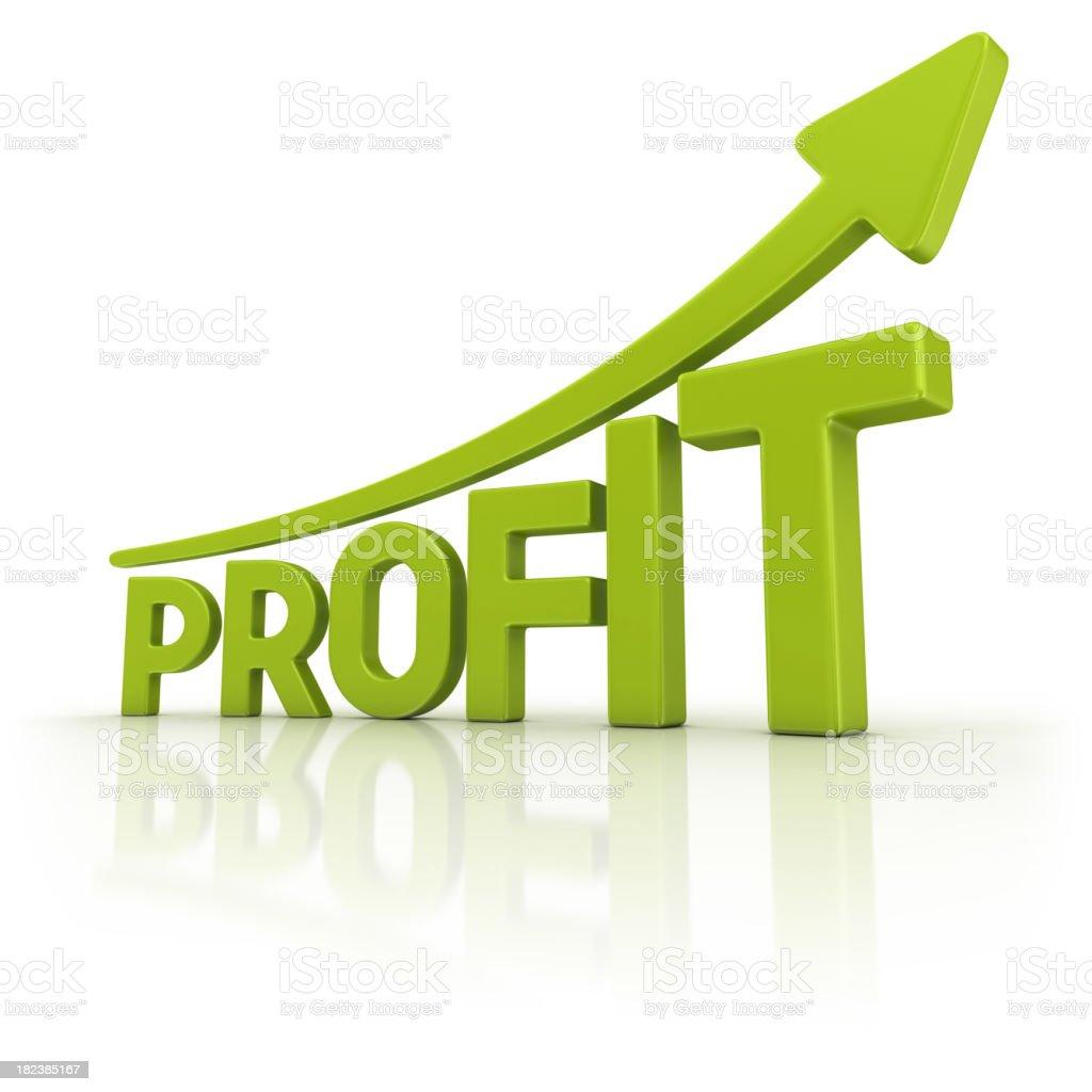 green profit graph stock photo