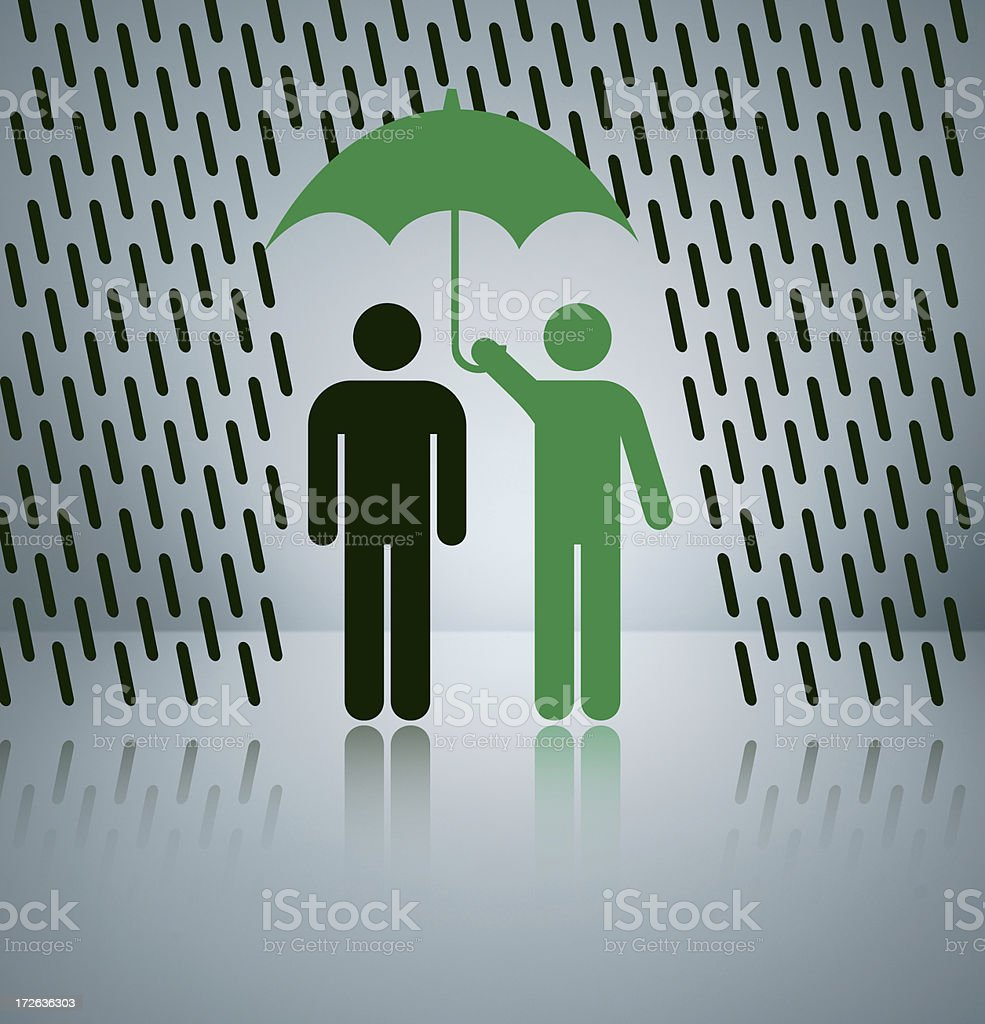 Green Protection royalty-free stock photo