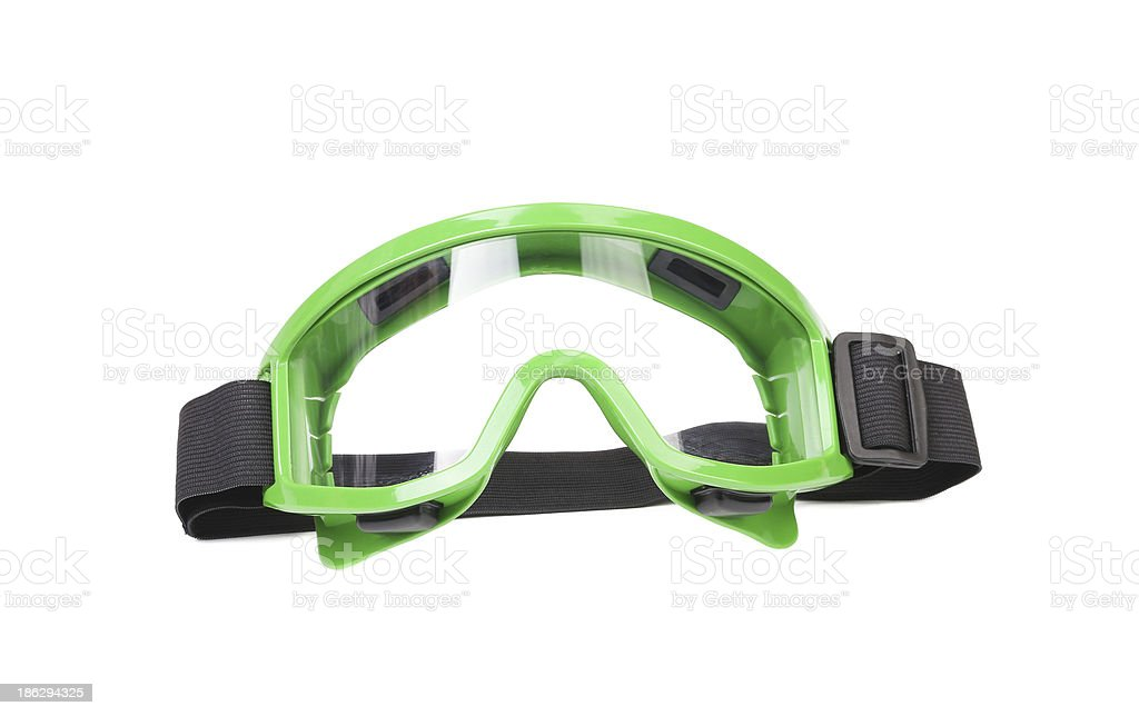 Green protective glasses. royalty-free stock photo