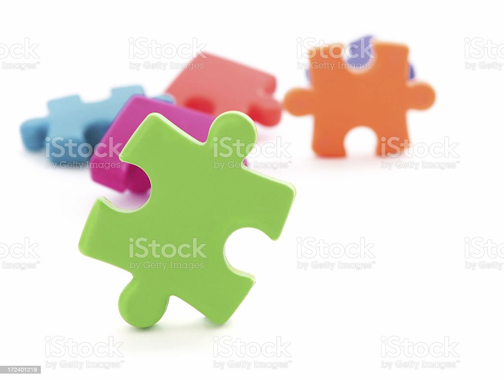 Green Puzzle Piece royalty-free stock photo
