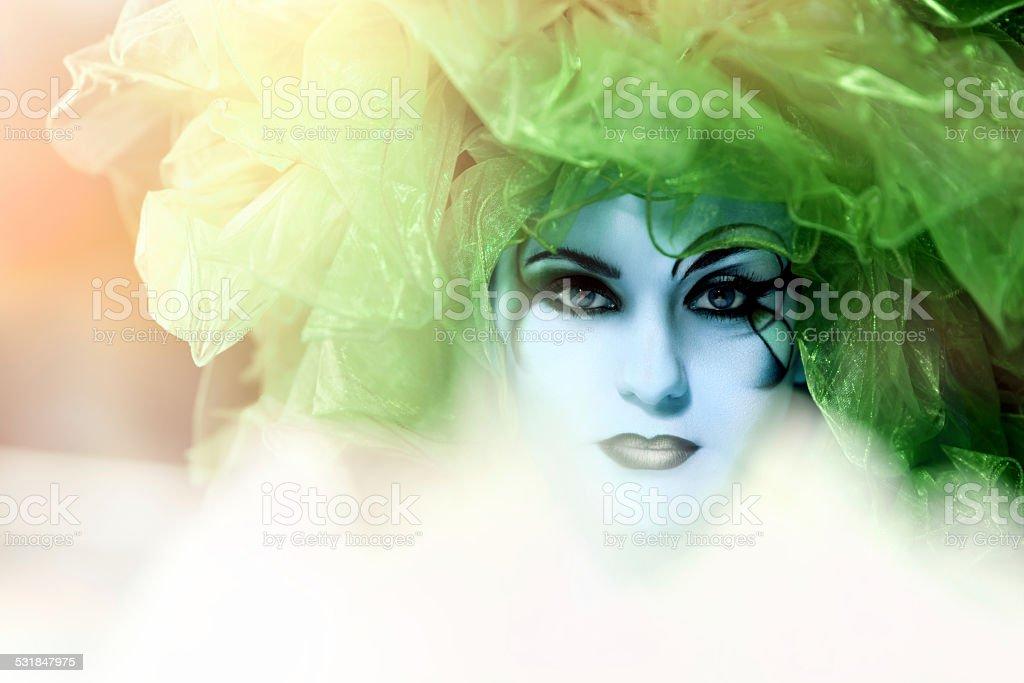 green queen stock photo