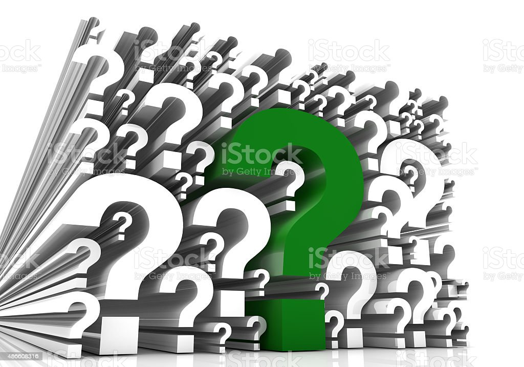 Green Question Marks stock photo
