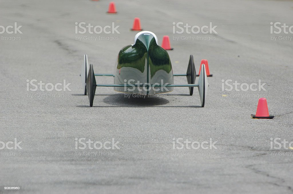 Green Race Car royalty-free stock photo