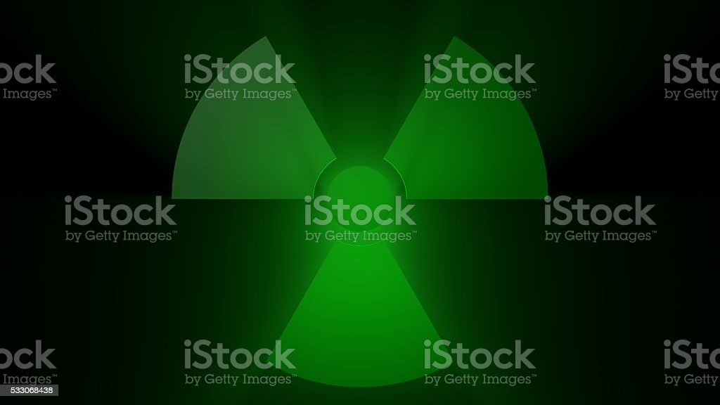 Green Radiation Sign stock photo