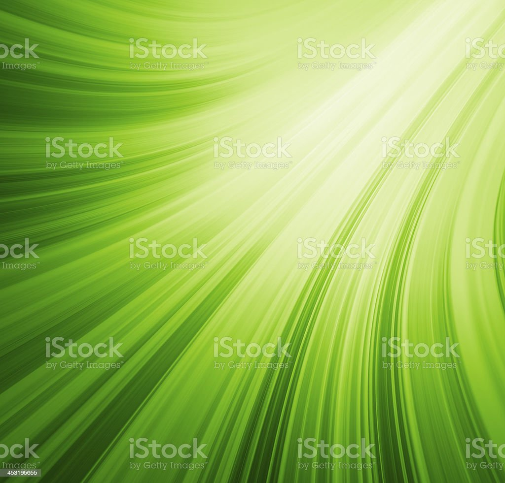 Green rays of light background stock photo