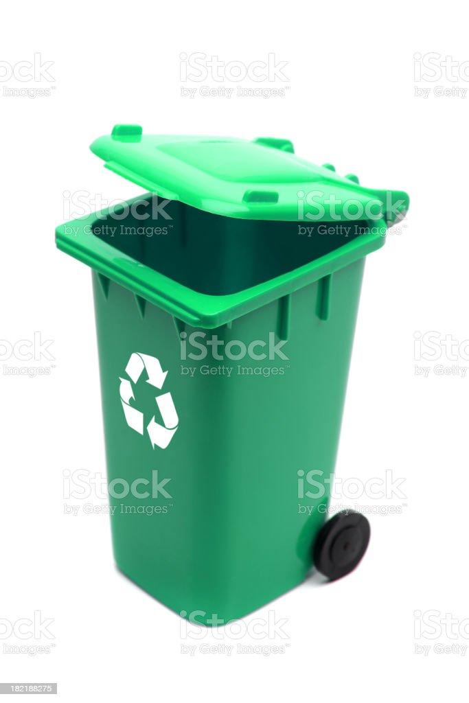Green Recycle Bin royalty-free stock photo
