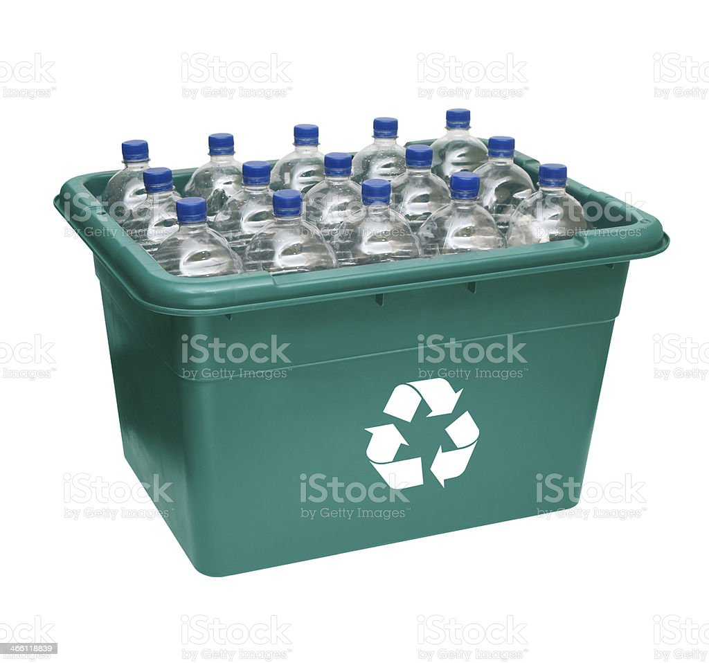 Green Recycle Box stock photo