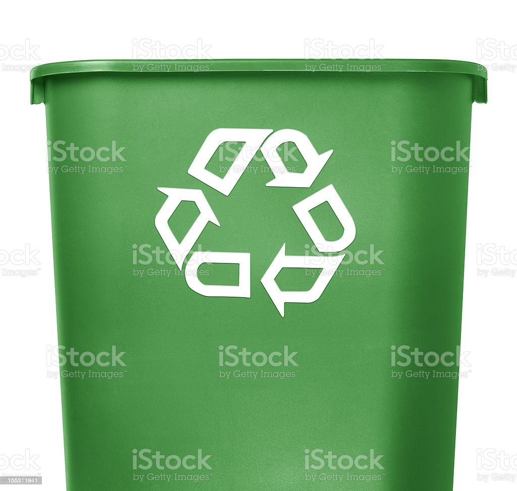 green recycle container on white background royalty-free stock photo