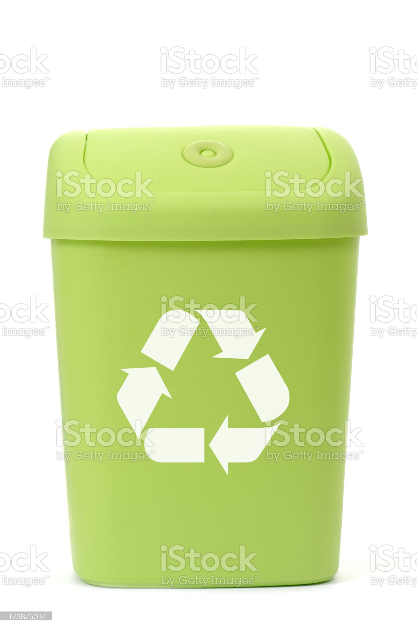 Green Recycling bin royalty-free stock photo