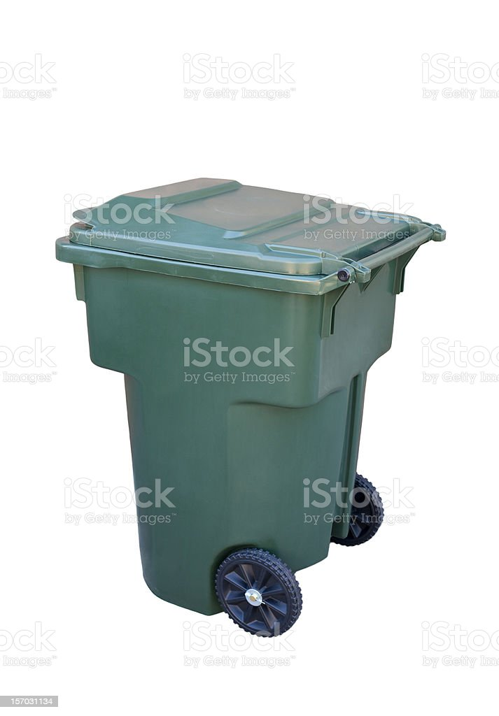 Green Recycling Container royalty-free stock photo