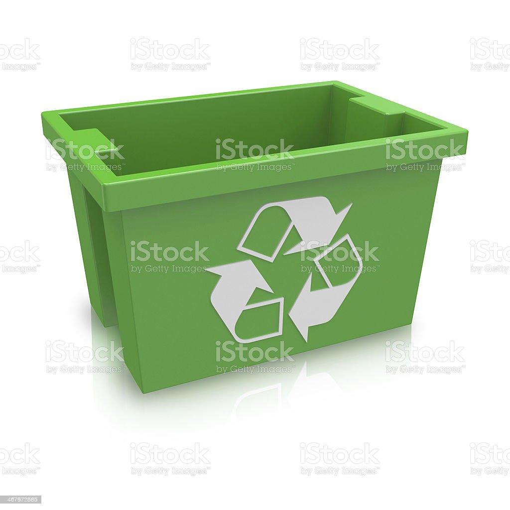 Green Recycling Tub stock photo