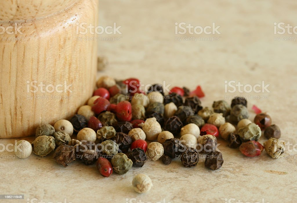 Green, red and white pepper close up royalty-free stock photo